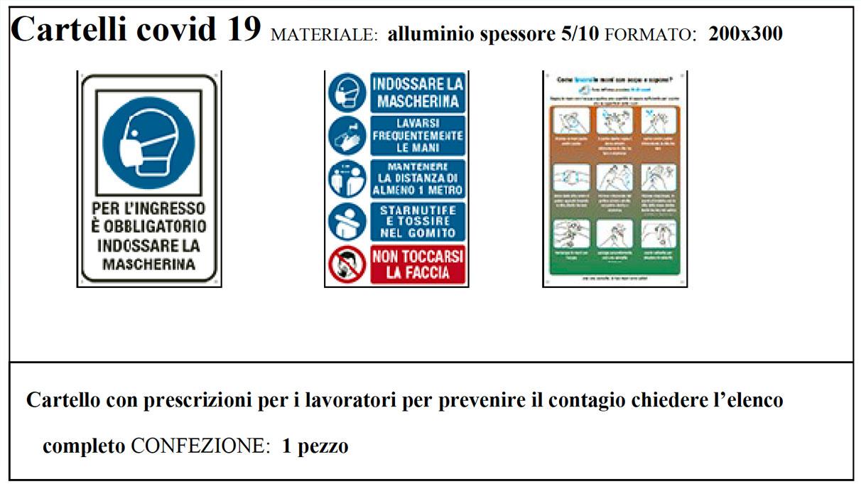 cartello covid 19 domoservice milano